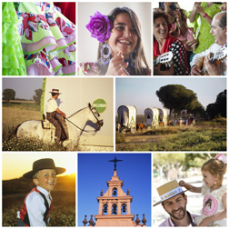 El Rocío pilgrimage is the most famous in the region, attracting nearly a million people from across Andalucia and the entire country, and beyond. Up to 10th June.