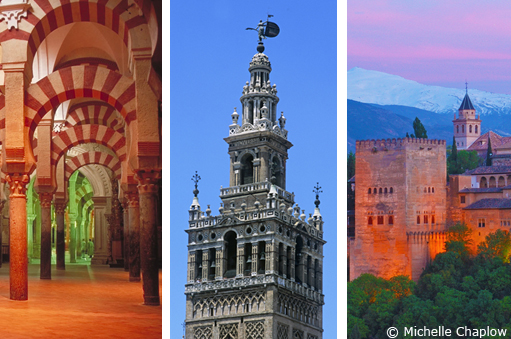 Seville, Granada and Cordoba form the Golden Triangle of Andalucia