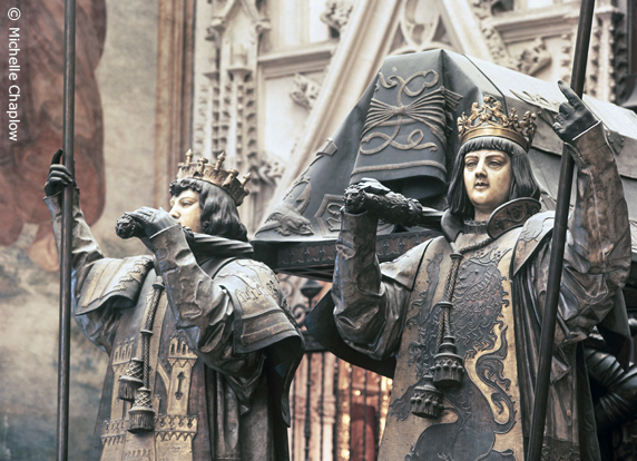 The Tomb of Christopher Columbus in Seville Cathedral © Michelle Chaplow .