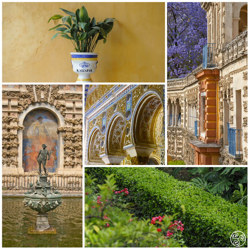 The magnificent, fragrant gardens of the Alcazar Seville. ©Michelle Chaplow