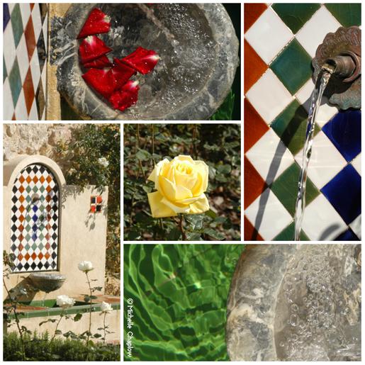 Moorish style gardens in Arcos. © Michelle Chaplow .