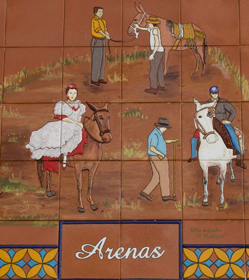 Plaque depicting Feria de la Mula, Arenas. © Sophie Carefull
