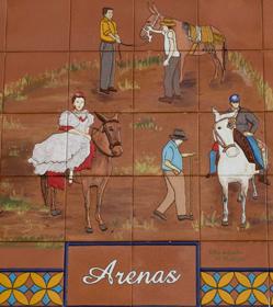 Plaque depicting Feria de la Mula, Arenas. © Sophie Carefull