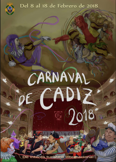 Carnival Poster from The Cadiz Town Hall 2018 ©Michelle Chaplow