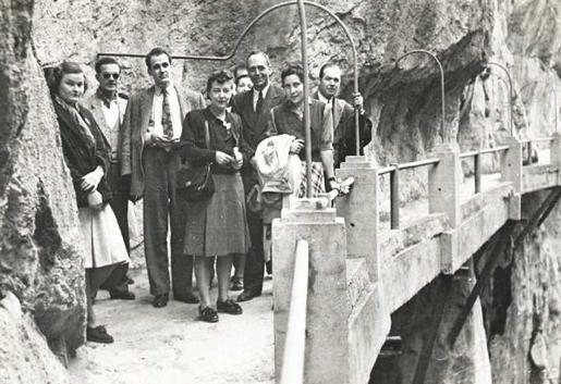El Caminito del Rey - Historic Photo - Photo Credit Diputacion de Malaga.