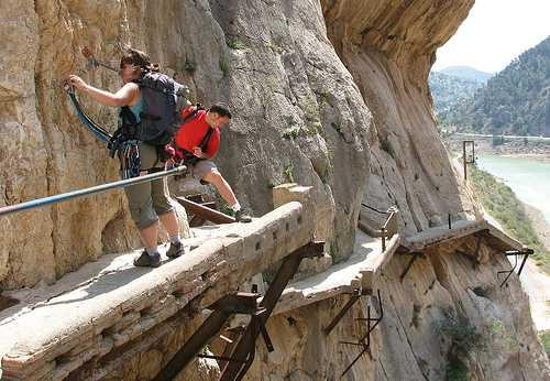 El Caminito del Rey - Old Path - Photo Credit Diputacion de Malaga.