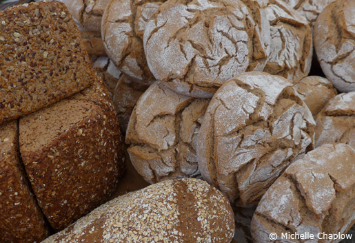 Wholemeal Spanish bread, delicious! © Michelle Chaplow .