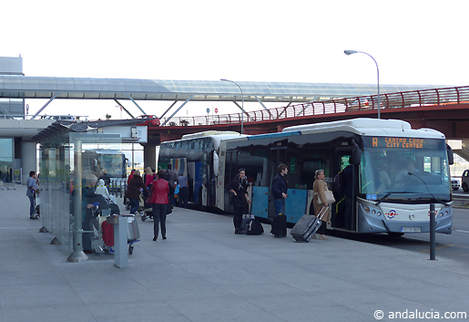 Buses from Malaga Airport. © andalucia.com