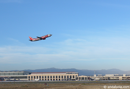 Takeoff at Malaga Airport. © andalucia.com