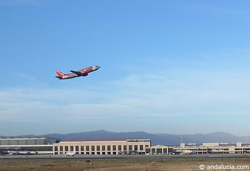 Takeoff at Malaga Airport. © andalucia.com