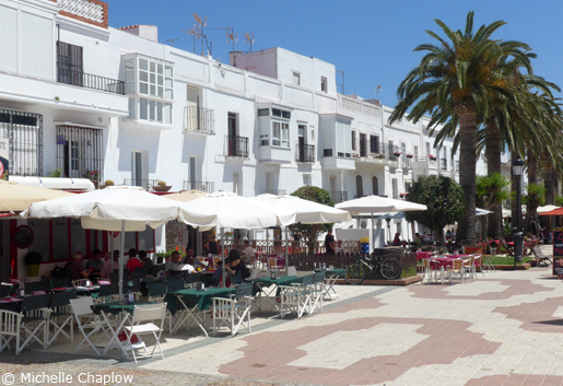 The palm tree lined Alameda in Tarifa is the peftect spot for lunch and a wander. © Michelle Chaplow