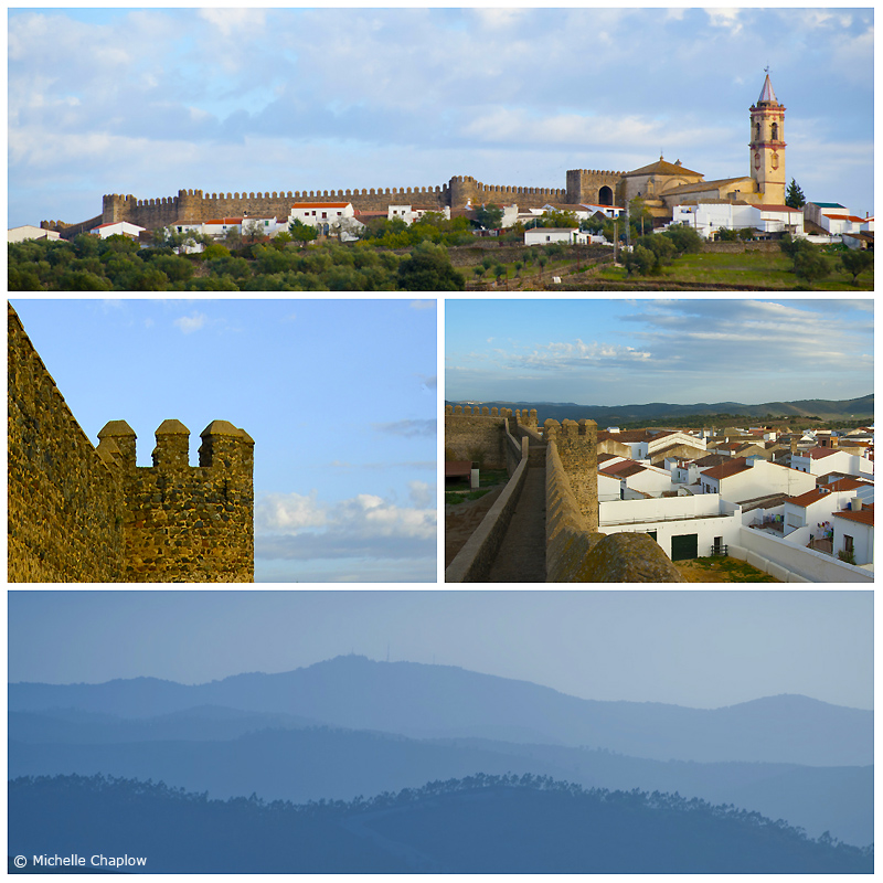 Cumbres Mayores stands proudly above the surrounding countryside. ©Michelle Chaplow
