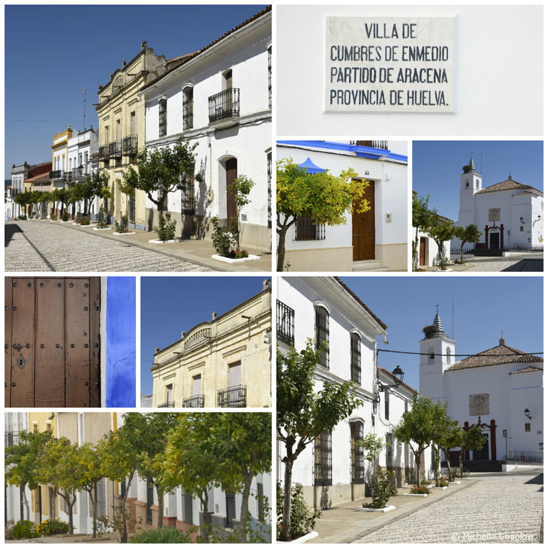 A village with one street. The Calle Real of Cumbres de Enmedio ( Click to enlarge images). ©Michelle Chaplow