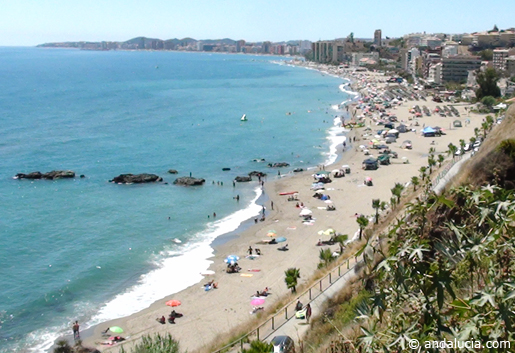 Family beach, Playa Carvajal in Benalmadena. © andalucia.com