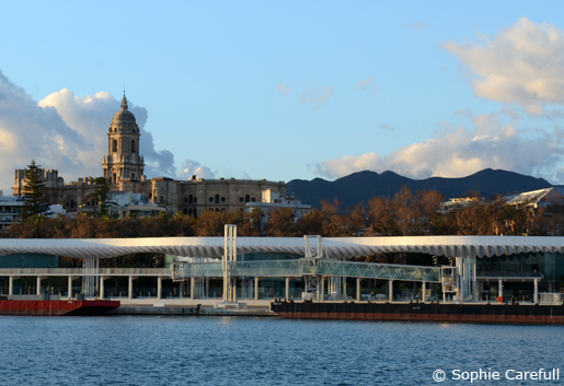 Malaga´s Baroque Cathedral and contemporary port development. © Sophie Carefull