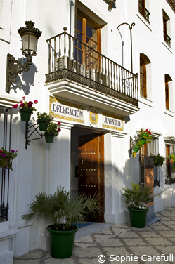 Estepona Tourist Office in Plaza de las Flores. © Sophie Carefull