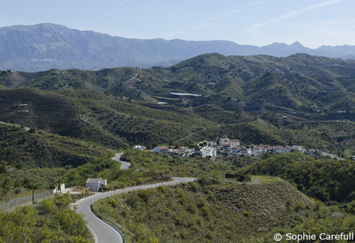 The tiny village of Macharaviaya, in the hills of La Axarquia. © Sophie Carefull