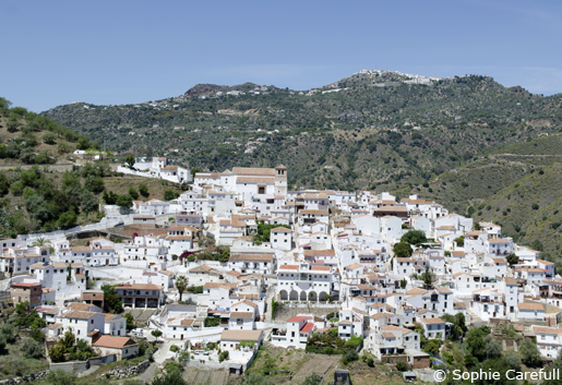 The white village of Cútar in La Axarquia.  © Sophie Carefull