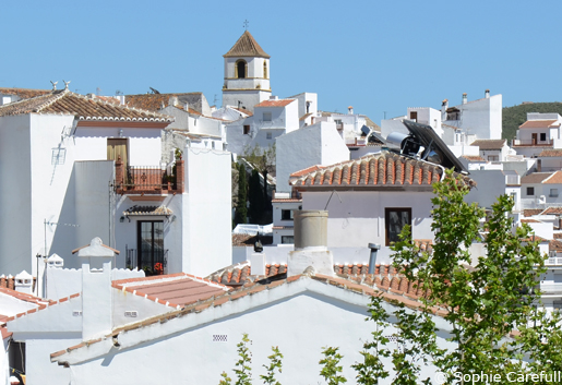 The white village of Canillas de Aceituno. © Sophie Carefull