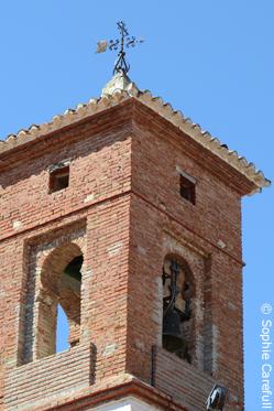 Mudejar style bell tower, Iglesia de Santa Ana. © Sophie Carefull