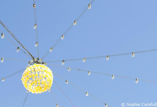 Feria lights in the church square, Iznate. © Sophie Carefull