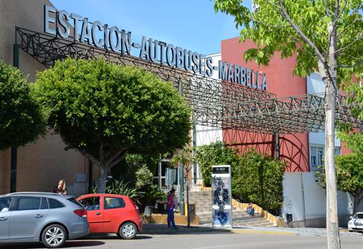 Marbella bus station on Avenida Trapiche. © Sophie Carefull