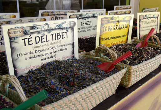 Take some tea home with you, Granada has a great selection of fruity infusions. © Sophie Carefull