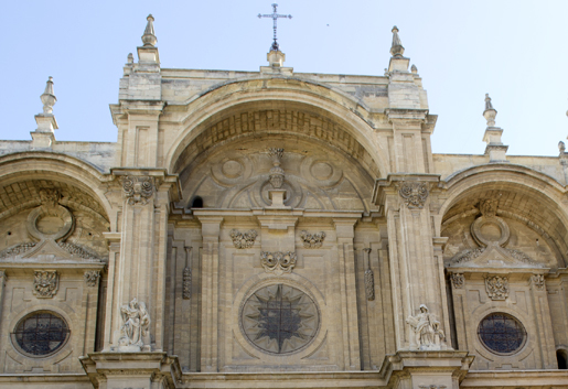 The imposing facade of Granada Cathedral. © Sophie Carefull