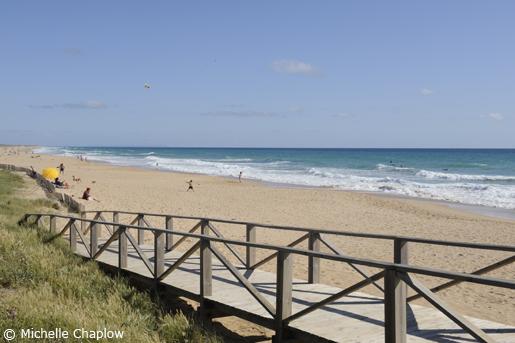 The idyllic Playa del Palmar, near Vejer de la Frontera.