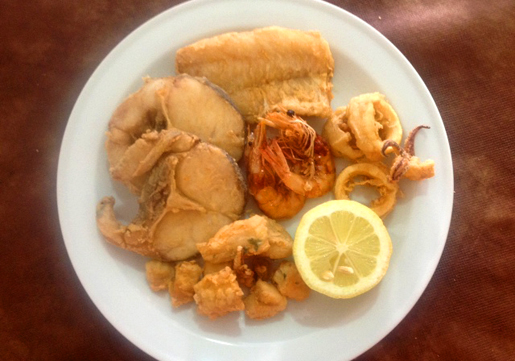 Fritura Malagueña - Mixed fried fish is typical of Malaga especially on the coast