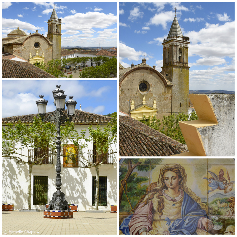 The Church of San Sebastián Church in la plaza de la Constitución. Higuera de La Sierra. (click to enlarge images) ©Michelle Chaplow