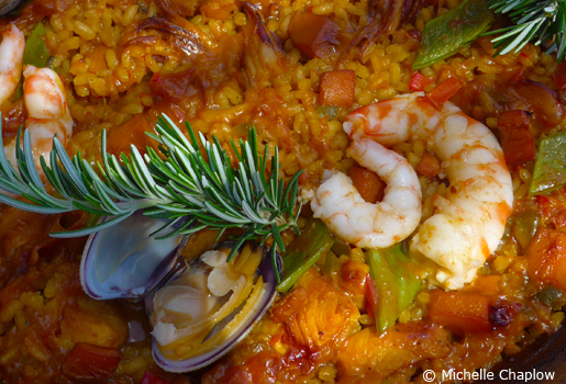 Seafood paella. © Michelle Chaplow