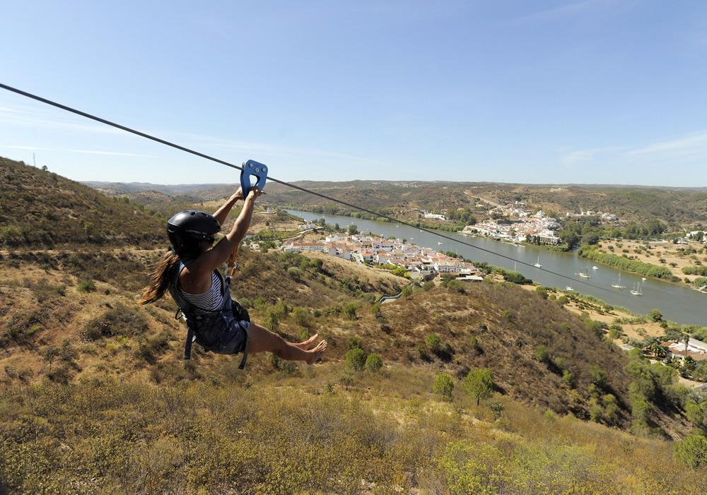 Zip Line across the Spain-Portugal Border ©limitezero.com