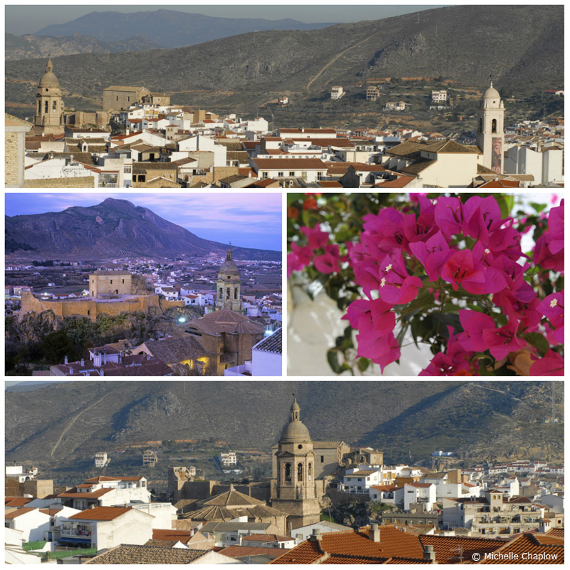 Loja Lies in a narrow valley dominated by the barren limestone massif of the Sierra de Loja. ©Michelle Chaplow