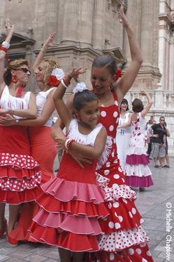 Dancing 'sevillanas' at the Malaga Feria.  © Michelle Chaplow