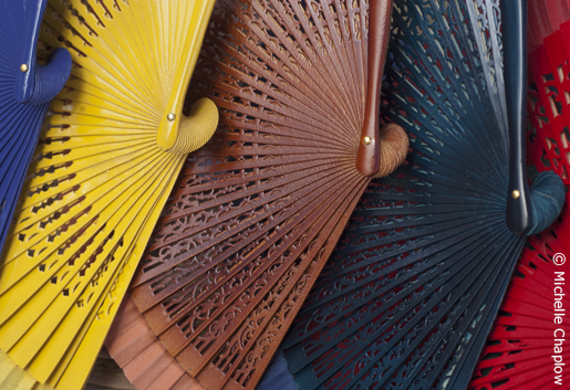 Keep cool during the festivals with an Andalucian fan. © Michelle Chaplow
