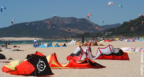© Michelle Chaplow Kites are King in Tarifa, Kite surfing on the Costa del Sol