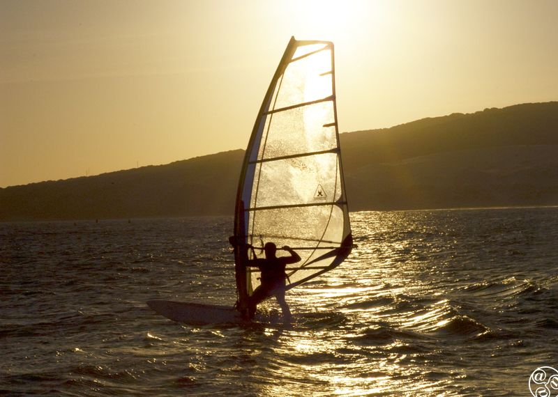 Windsurfing at Matalascañas ©Michelle Chaplow