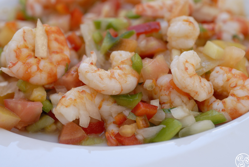 Salpicon de marisco (seafood salad) is a popular tapa in Seville. ©Michelle Chaplow