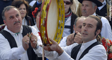 The tambourine plays an important role in the Verdiales musical bands.