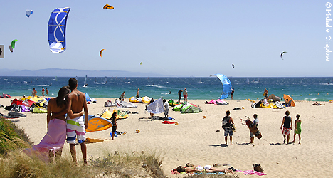 Cadiz coast is a Mecca for kite and windsurfers