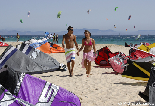 Kites are king in Tarifa. © Michelle Chaplow