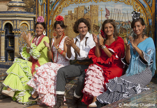 The Feria de Abril is a highlight of the Andalucian Feria calendar. © Michelle Chaplow