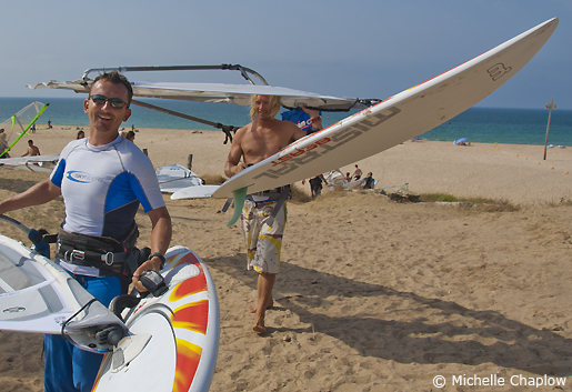 The Tarifa windsurf scene. © Michelle Chaplow
