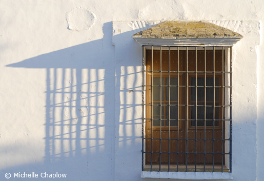 Long shadows of the late afternoon sun in Cirdoba province, Andalucia