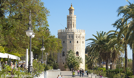 The Torre del Oro (Golden Tower), which dominates the banks of the river Guadalquivir