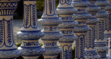© Michelle Chaplow Beautiful ceramics visible at the Plaza de Espana