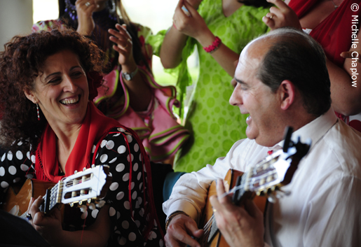 Rocieras (flamenco style songs) are joyfully sung about the Pilgrimage. © Michelle Chaplow