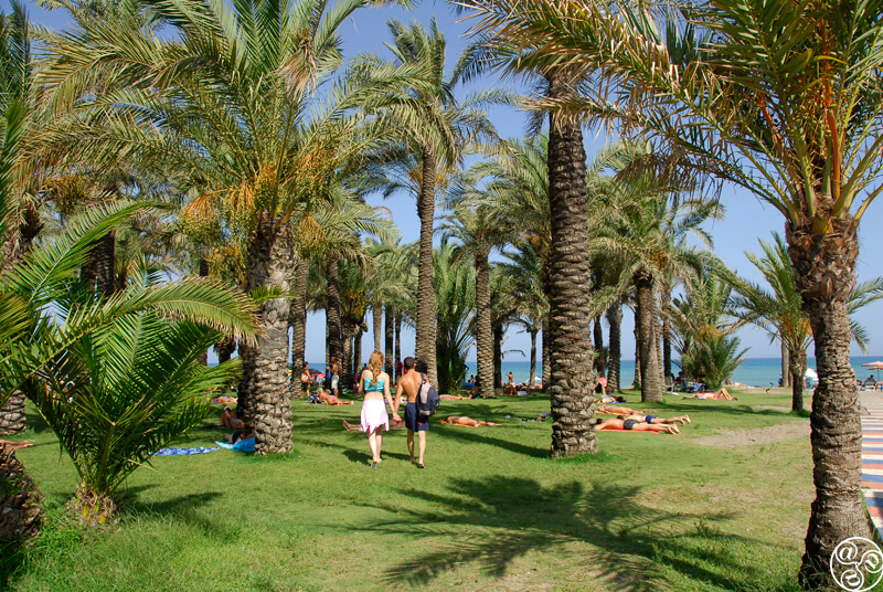 Torremolinos beach in the Costa del Sol