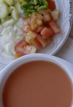 © Michelle Chaplow Refreshing and full of vitamins the chilled gazpacho soup